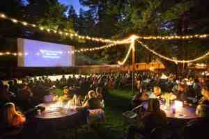 A typical evening during the Big Sur International Short Film Screening Series